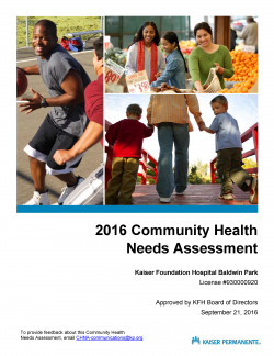 Image of 2016 CHNA Report Cover