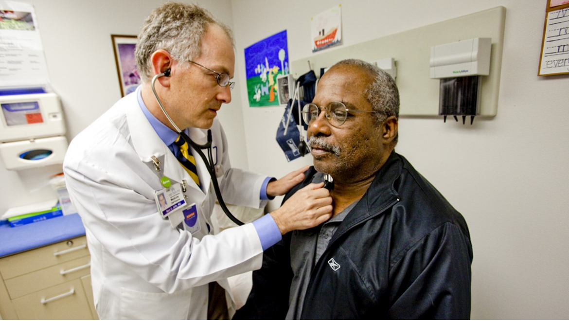 physician with patient