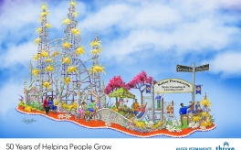 Thumbnail image of Announcing Kaiser Permanente's 2017 Rose Parade® Float – 50 Years of Helping People Grow