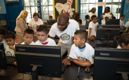 Thumbnail image of NBA star Chris Paul and Kaiser Permanente unveil new computer labs for students in Watts