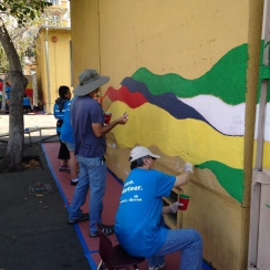Thumbnail image of LAMC Volunteers Give Local School a Makeover