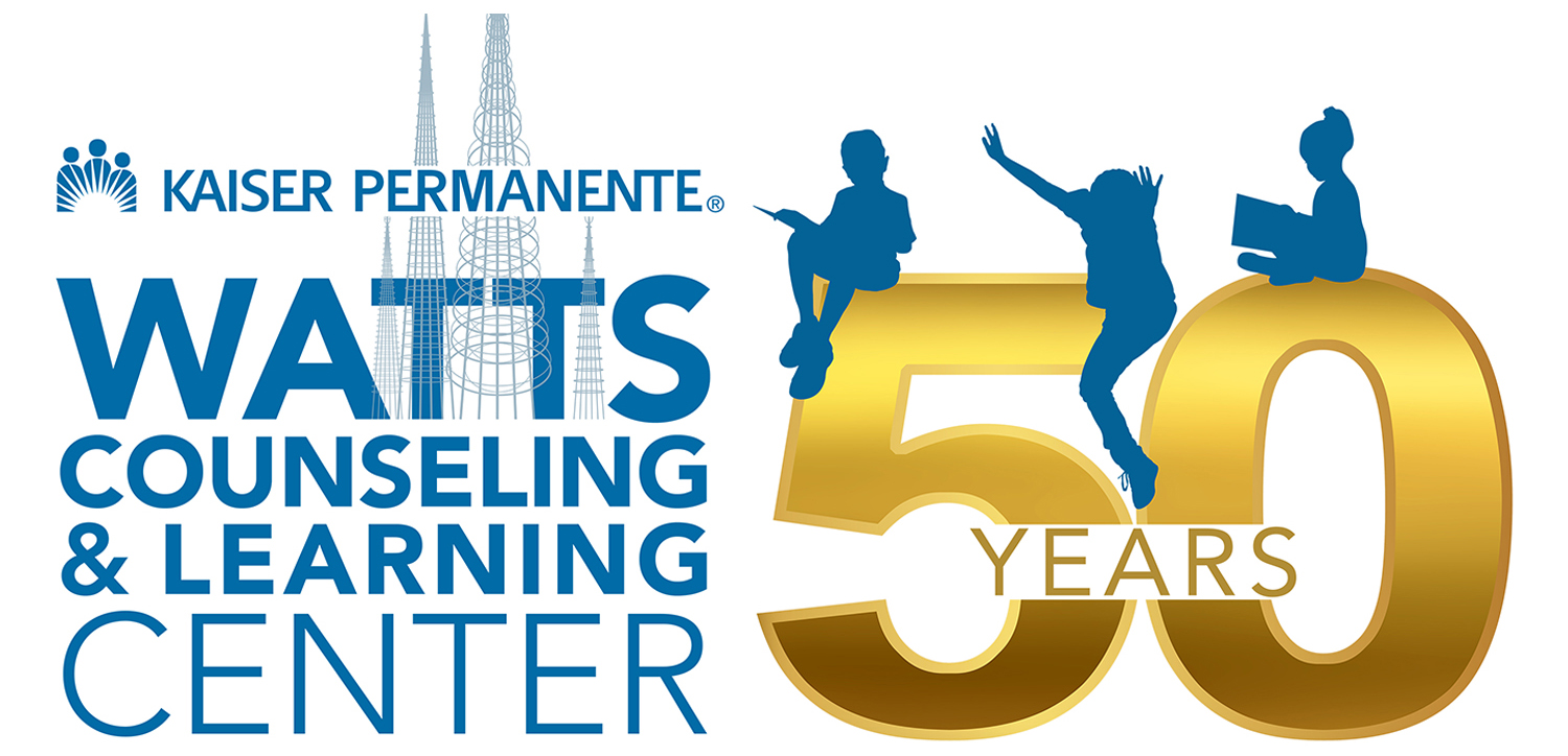 Watts Counseling and Learning Center 50 Years Logo